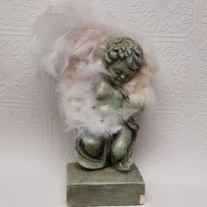 OBO 💕 FABULOUS ANGEL Statue Feathered Home accent
